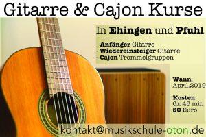 Die neuen Cajonkurse und Gitarrenkurse in der Mussikschule oton